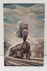 Pennsylvania-6170-Leaning-Into-Horseshoe-Curve-Postcard