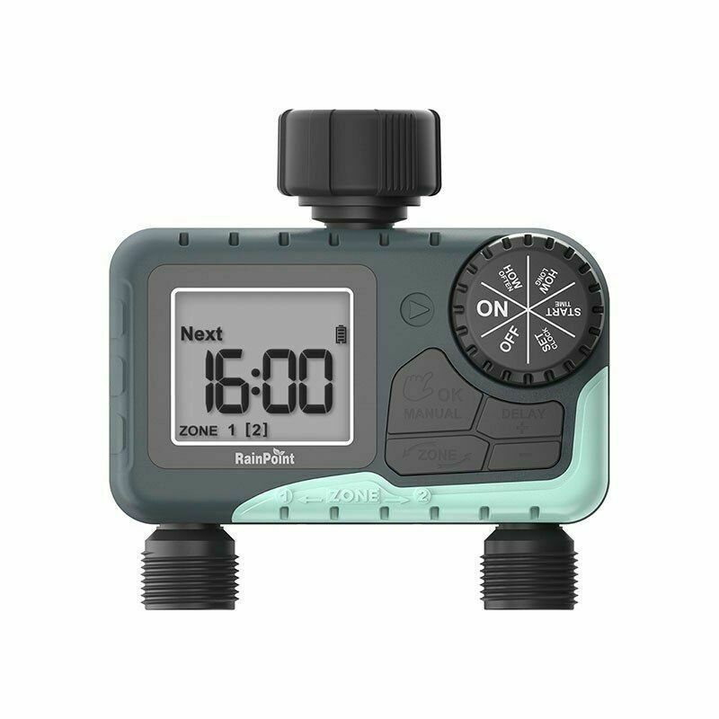 Electronic Automatic Watering Two Outlet Digital Display Water Timer Irrigation