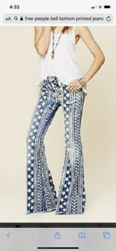 Womens Free People Mantra Flair Bell Bottom Jeans