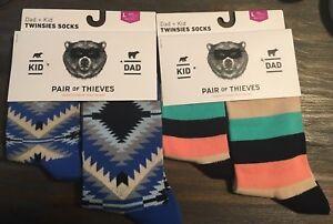 2-Twinsies-Sock-Set-NEW-Pair-of-Thieves-Dad-amp-Kid-Men-Sz-8-12-amp-Kid-L-9yr-12yr