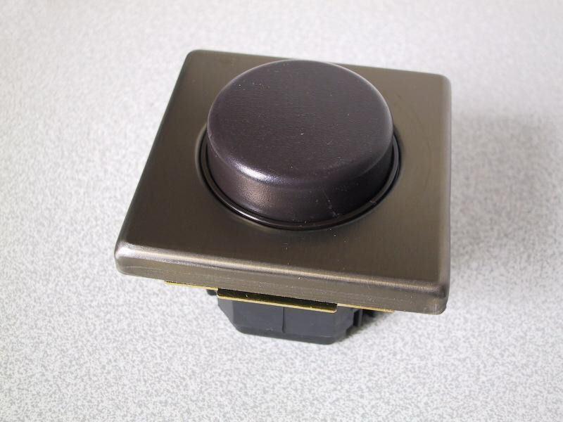 KOPP Dimmer für elektronische Trafos VISION bronze-metall UP Unterputz Regler