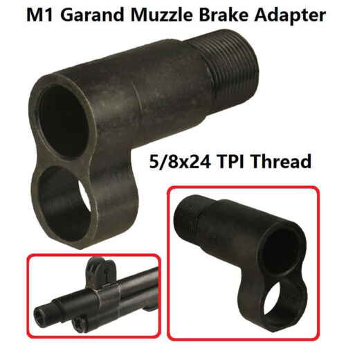 M1 Garand  Muzzle Brake Adapter 5//8x24 Thread+Mini Tanker Style Muzzle Brake 308
