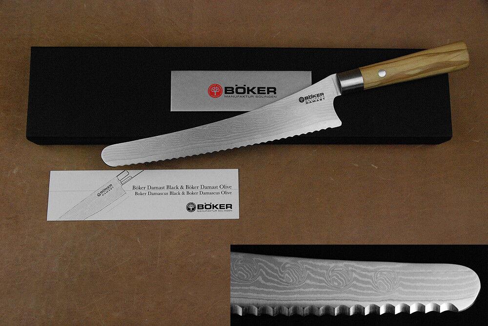 Böker Damast Premium langes Brotmesser Damastmesser mit Olivenholz-Griff     Verrückter Preis, Birmingham