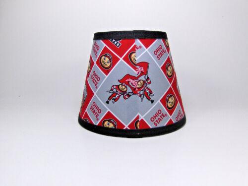 Ohio State University Buckeyes Fabric Lamp Shade Lampshade NCAA Handmade Gray