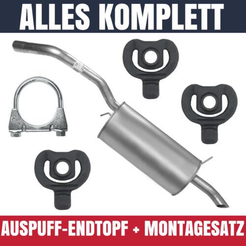 Endschalldämpfer Auspuff Endtopf für Renault Megane I 1 95-02 1.4 1.6 1.8