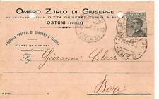 OSTUNI  -  Omero Zurlo di Giuseppe      Fabbrica propria di cordami e fiscoli