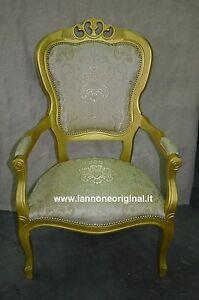 Poltrona poltroncina classica camera da letto colore oro for Poltrona classica camera da letto