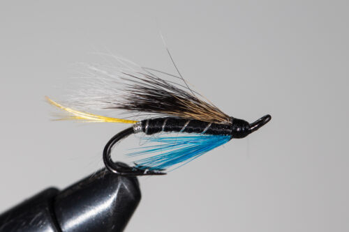 Pick a size Fly Fishing Fly Salmon Fly,Blue Charm 3-pack Double Hook.