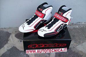 Tech Omologate 41 Bianco Scarpe Auto Tg Rosso Alpinestars Fia Nero t Rally 1 qWAtxwf