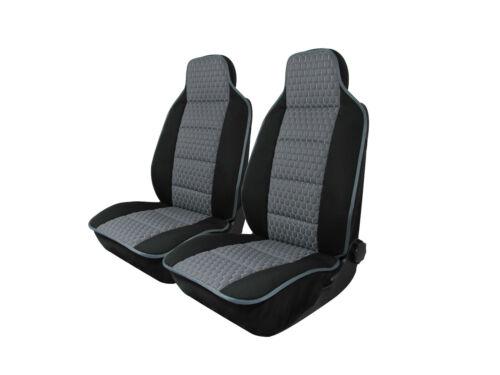 2x Sitzauflage Sitzkissen Sitzmatten Rückenkissen Grau Kunstleder+Stoff