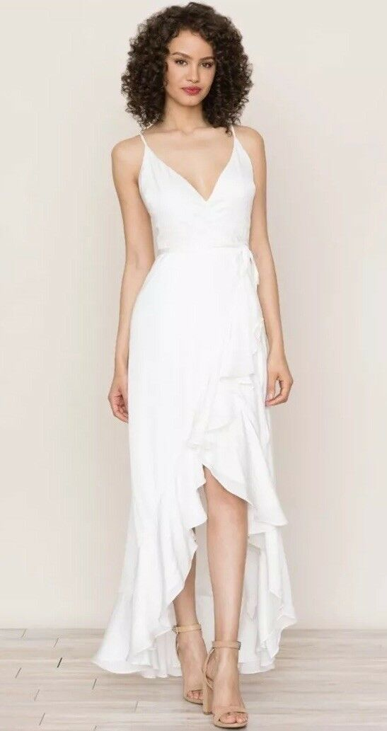 NEW  Yumi Kim Cross Roads Maxi Dress Sz XS White Wedding Rehersal Honeymoon