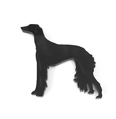 Lurcher Dog Brooch Badge Pin Scarf Fastener In Various Colours of Acrylic