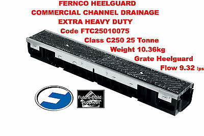 10X Storm Channel Drainage Drain 25 Tonne C250 Shallow Extra Heavy Duty1m Length