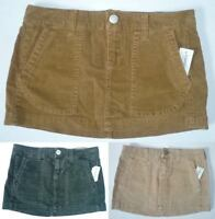 Womens Aeropostale Solid Corduroy Cord Woven Skirt 2173