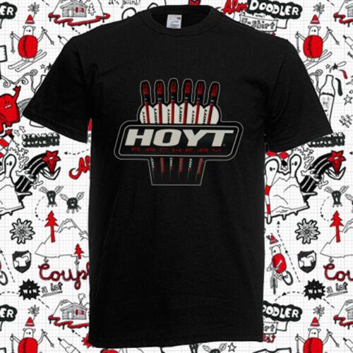 New Hoyt Archery Logo Men/'s Black T-Shirt Size S to 3XL