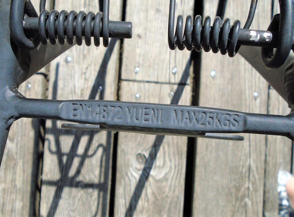 Bagagebærer, sort, til voksen - eller junior cykel