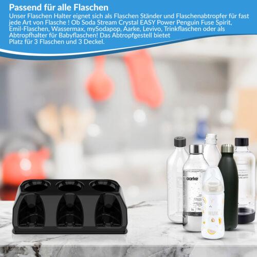 SodaClean® Flaschenhalter Abtropfhalter Sodastream Crystal Emil Aarke Easy Power