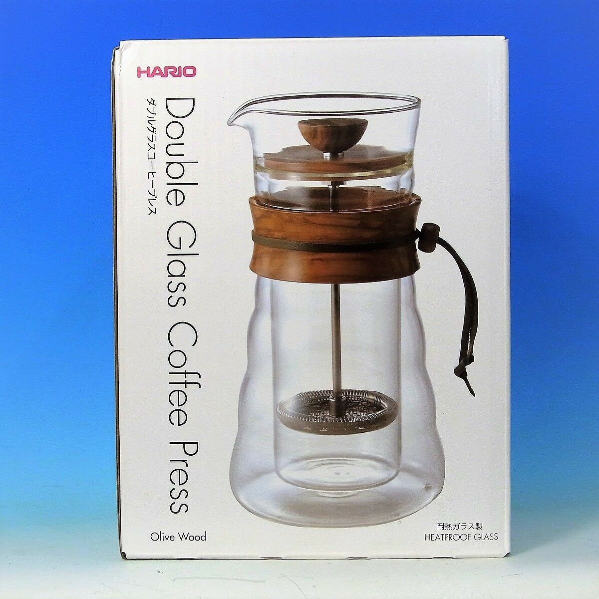 Hario Dgc 40 Ov Double Wall Glass Coffee Press Clear Ebay V60 Stailess Drip Scale Vstm 2000hsv