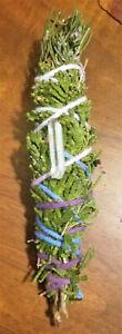 Cedar-Juniper-Rosemary-Incense-Smudge-Stick-Blessed-4-5-034-Quartz-Crystal-Reiki