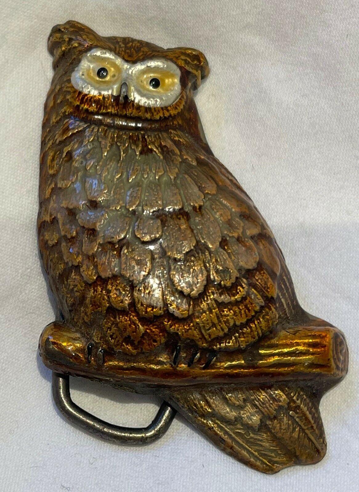 Heavy Metal Owl Belt Buckle
