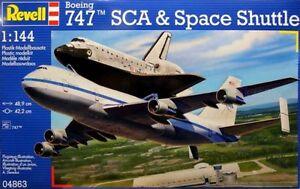 REVELL-1-144-KIT-AEREO-DA-MONTARE-BOEING-747-SCA-amp-SPACE-SHUTTLE-ART-04863