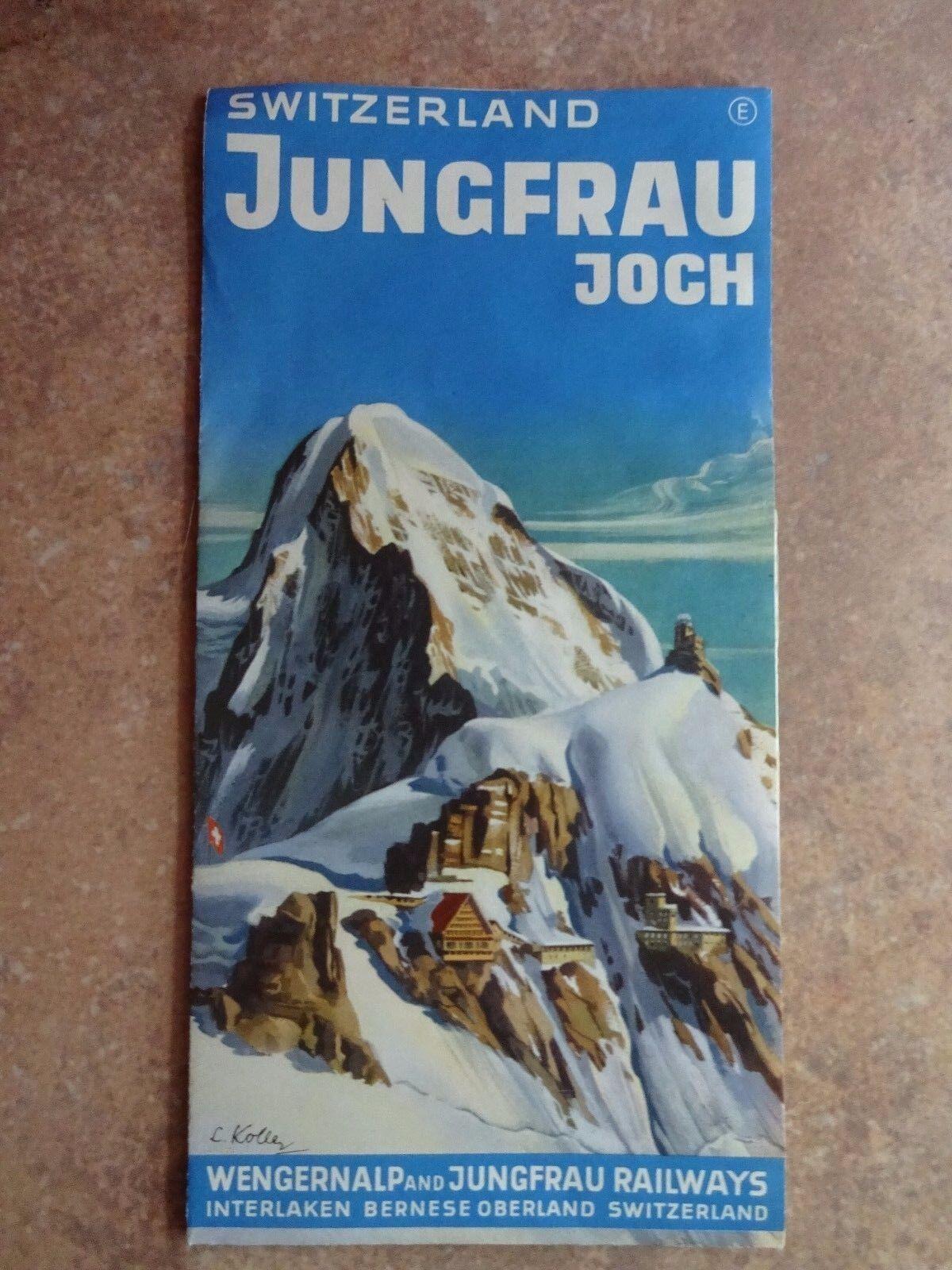 Lois Koller Voyage Brochure - c.Années 1950 - Suisse Jungfrau Joch & Bahn