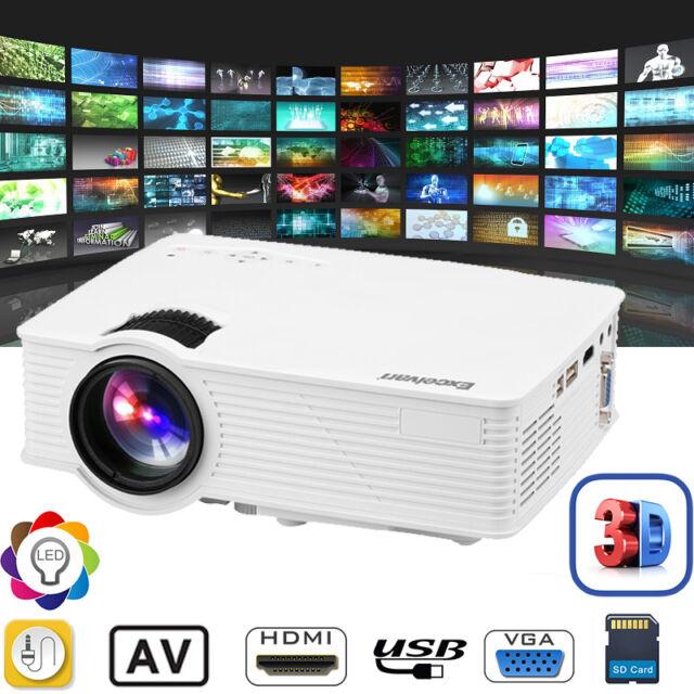 EHD09 3000 Lumens 3D 1080P LED Vidéo Projecteur Multimédia HDMI/USB/SD/AV NEW FR