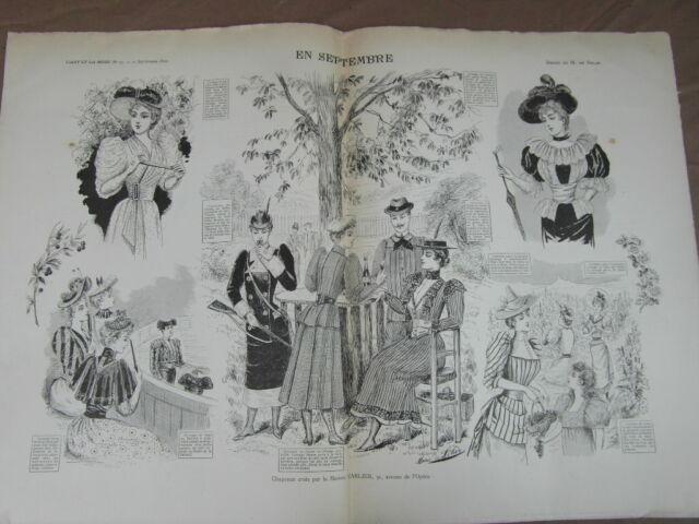 L' ART ET LA MODE - 1892 - No 37 - ILLUSTREE - MODE EN SEPTEMBRE CARLIER