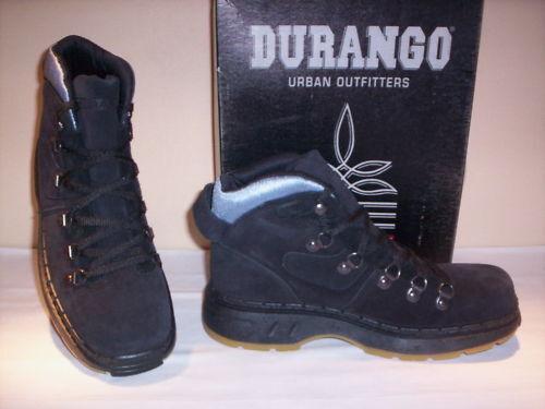 Scarpe alte polacchini scarponi Durango uomo 45 pelle scamosciata neri nuovi 45 uomo b47270