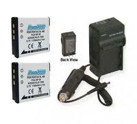2 Klic-7004 Batteries + Charger For Kodak M1033 M1093 Is M2008 V1073 V1233 Zi8