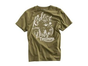 Original-Triumph-Motorcycles-DIRT-TRACK-TEE-Shirt-Kurzarmshirt-Neu-MTSA17106
