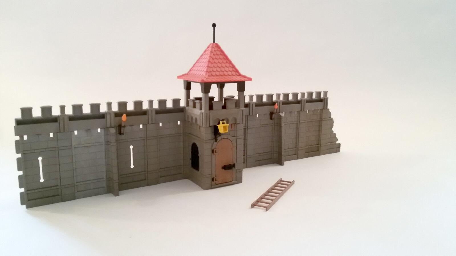 Playmobil    Erweiterung     Ritter    Burg    Mauer  Turm    für   Ritterburg