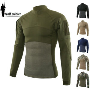 ESDY-Mens-Army-Military-T-shirt-Combat-Tactical-Casual-Pullover-Shirt-Camouflage
