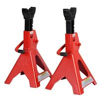 3 Ton Heavy Duty Jack Stands Ratcheting Set Pair Height Adjustable Car Truck on sale