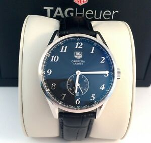 Tag-Heuer-Carrera-Heritage-Calibre-6-Mens-Watch-Automatic-Exc-Cond-WAS2110