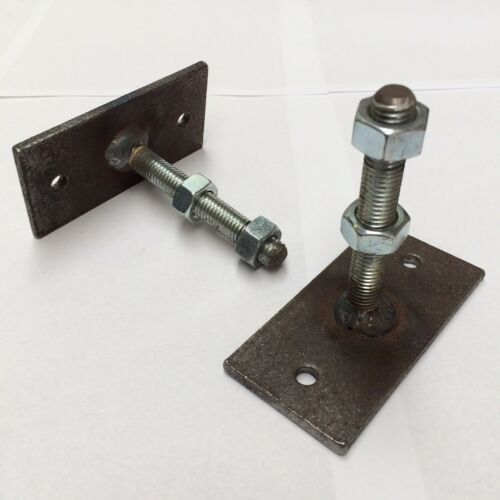 WALL RAILING FIXING BRACKETS SIDE FEET HINGES BOLTS FIXTURES WROUGHT IRON METAL