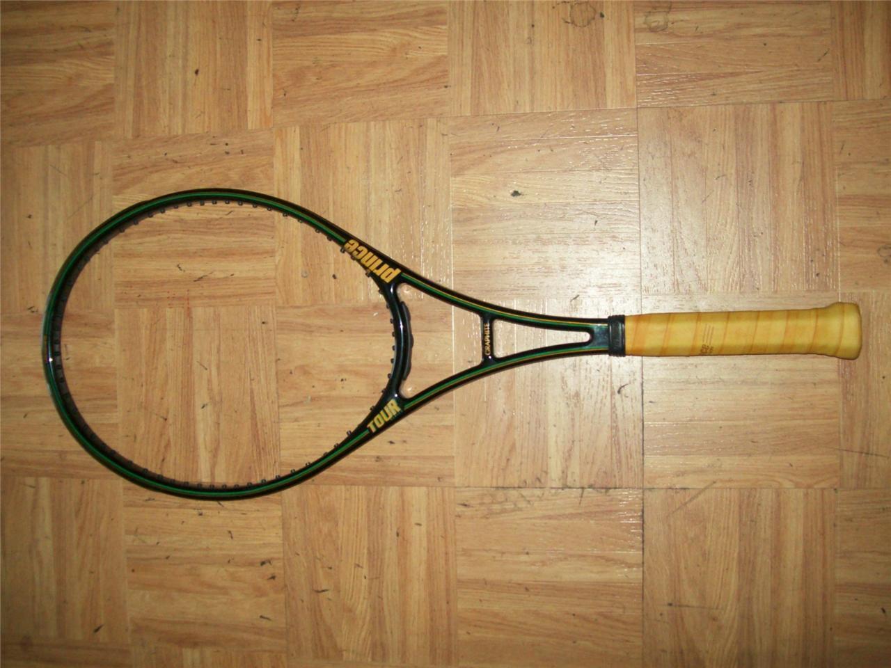 El príncipe Grafito Tour Tamaño Mediano 93 cabeza 4 1 4 de agarre gran forma tenis raqueta