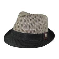 Black Men Women Unisex Summer Beach Trilby Fedora Straw Panama Cap Sun Hat