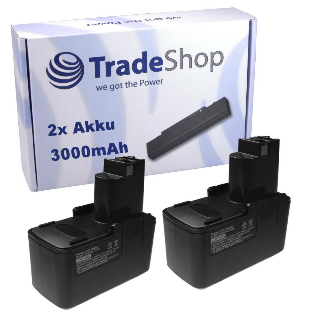 2x Akku 9,6V 3000mAh für BOSCH PSB 9.6VPS-2 9.6 9,6 VSP-2 PSR 9.6VES