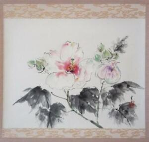HANGING-SCROLL-JAPANESE-PAINTING-FROM-JAPAN-FLOWER-PICTURE-VINTAGE-012p
