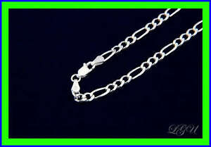 STERLING-SILVER-ITALIAN-FIGARO-LINK-NECKLACE-22-034-4mm