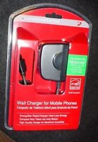 6 Motorola Cell Phone Wall Charger Razr, Blackberry Pearl, Curve Case Lot