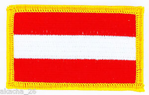 Patch Ecusson Brode Drapeau Autriche Insigne Thermocollant Neuf Flag Patche Bpd2in1l-08010500-363991170
