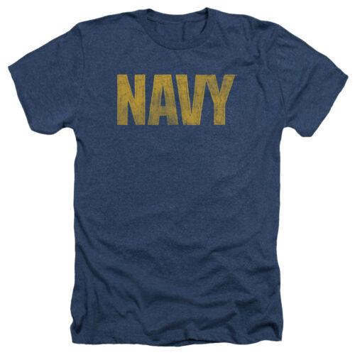 U.S United States Navy LOGO Licensed Adult Heather T-Shirt All Sizes