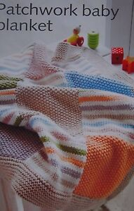 Free Knitting Pattern For Moss Stitch Baby Blanket : PATCHWORK BABY BLANKET~GARTER/MOSS STITCH KNITTING PATTERN ...