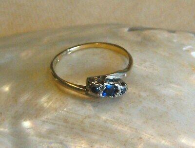 Antik Historismus Um 1880 Saphir Platin 750er / 18ct Gold Ring Rg 52 / 16,5 Rar Hohe QualitäT Und Preiswert
