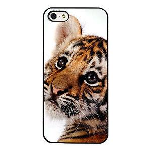 Cute tiger cub plastic phone case fits iphone ebay image is loading cute tiger cub plastic phone case fits iphone thecheapjerseys Image collections