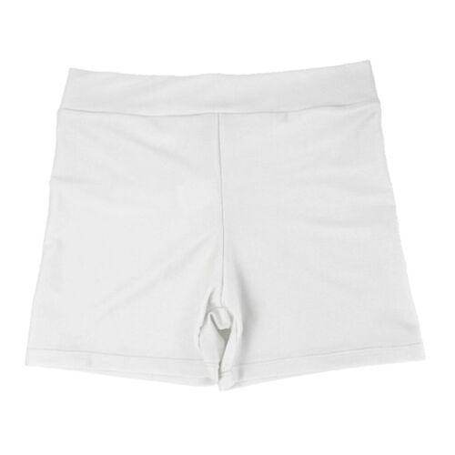 Ladies Girls Gym Stretchy Spandex Plain Shorts Hot Pants Gym Cycling Under Wear