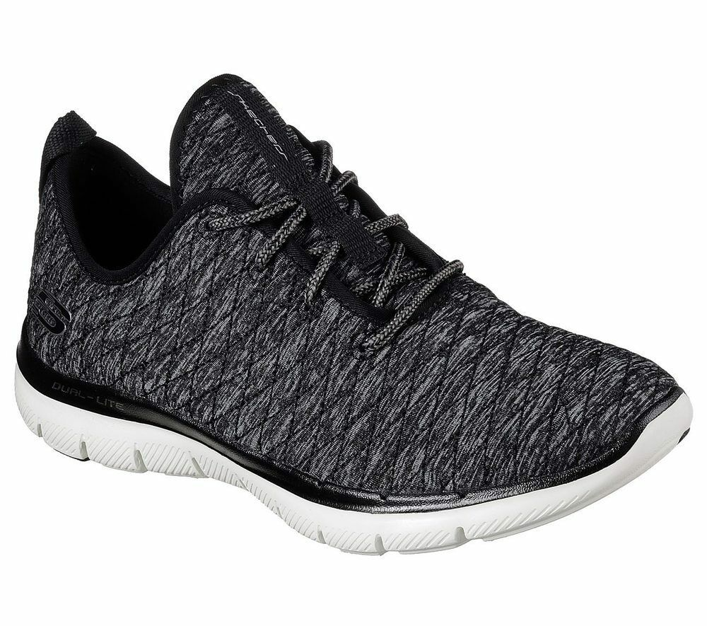NEU Foam SKECHERS Damen Sneakers Memory Foam NEU FLEX APPEAL 2.0-FIRST IMPRESS Schwarz 10c761