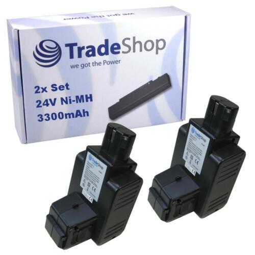 2x Batterie 24 V 3300 mAh Ni-MH pour Hilti c7//24 c7//36 tcu7//36 te5a remplace bp60 bp72